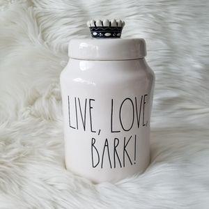 NEW Rae Dunn LIVE, LOVE, BARK! Canister Jar